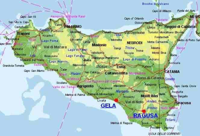 Gela Sicilia Cartina.Ritrovamento